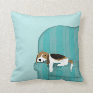 Happy Couch Dog - Cute Beagle Relaxing Cushion