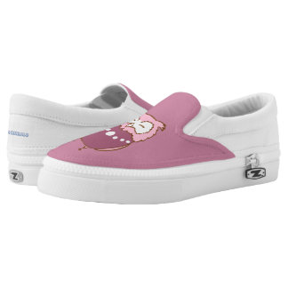 Happy couple owls printed shoes