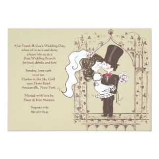 "Happy Couple Post Wedding Brunch Invitation 5"" X 7"" Invitation Card"