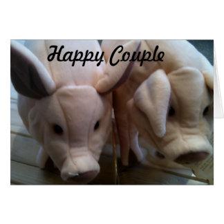 HAPPY COUPLE - WEDDING CARD