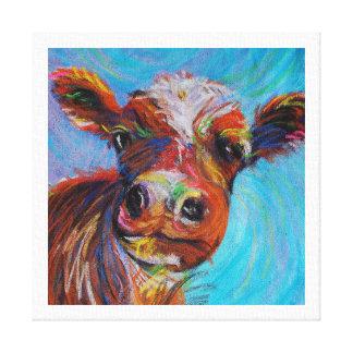 Happy Cow Canvas Print