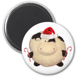 Happy Cow Christmas Magnet