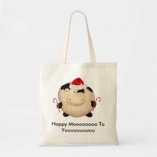 Happy Cow Christmas Shopping Bag