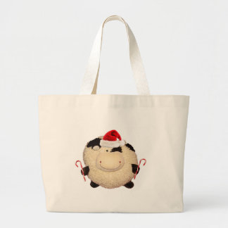 Happy Cow Christmas Shopping Bag