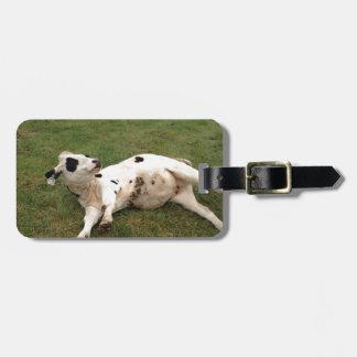 happy cow organic farm tags for luggage