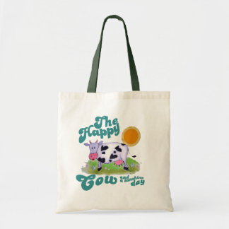 happy cow budget tote bag
