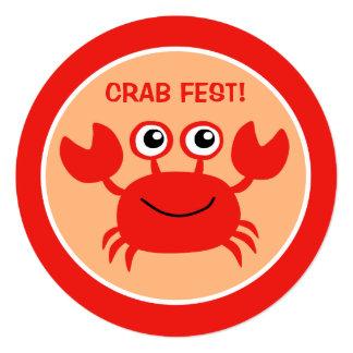 Happy Crab custom Cookout invitations