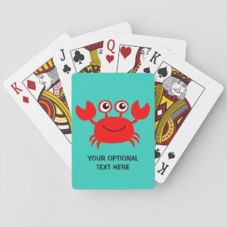 Happy Crab custom playing cards