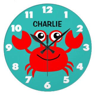 Happy Crab custom wall clock
