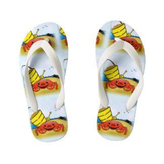 Happy Crab Flip Flops