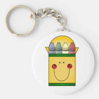 Happy Crayons Basic Round Button Key Ring