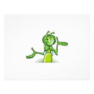 Happy cricket cartoon custom flyer