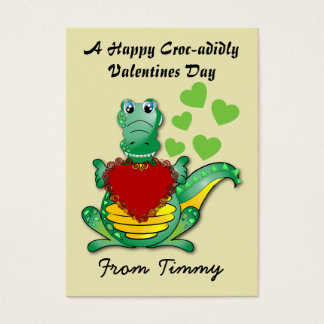 Happy Croc-adidly Valentines Cards for Kids