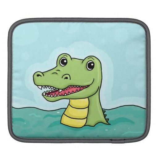 Happy Crocodile customisable iPad Sleeves