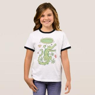 Happy crocodile ringer T-Shirt