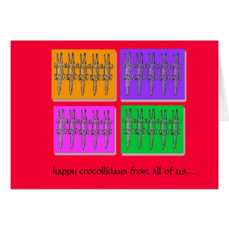 happy crocollidays card