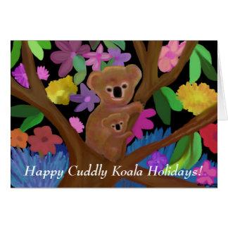 Happy Cuddly Koala Holiday Card