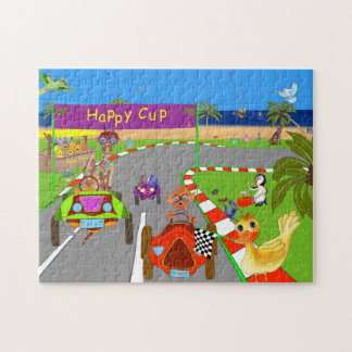 Happy Cup Race Day Finish Jigsaw Puzzle
