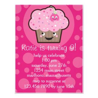 Happy Cupcake Birthday Party Invitation