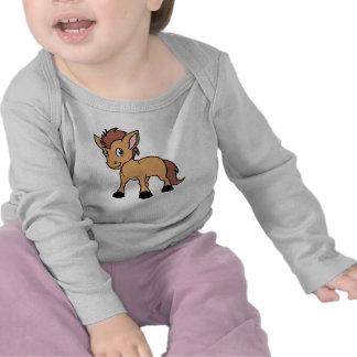 Happy Cute Brown Foal Little Horse Pony Colt T-shirt