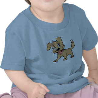 Happy Cute Brown Puppy Dog Tongue Out Tshirts