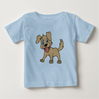 Happy Cute Brown Puppy Dog Tongue Out T Shirts