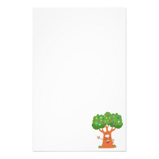 happy cute cartoon abc alphabet tree customized stationery