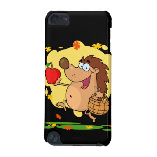 happy cute hedgehog apple picking iPod touch 5G covers