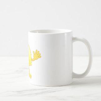 Happy cute lemon fruit character mugs