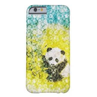 Happy Cute Panda Grunge Barely There iPhone 6 Case