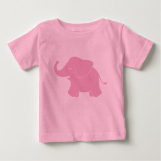 Happy Cute Pink Elephant Baby T-Shirt