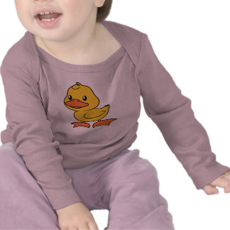 Happy Cute Yellow Duckling T Shirts