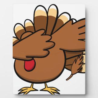 Happy Dabsgiving! Dabbing Turkey Plaque