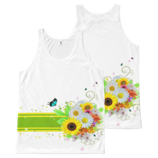 Happy Daisies All-Over Print Singlet