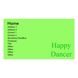 Happy Dancer green Business Cards