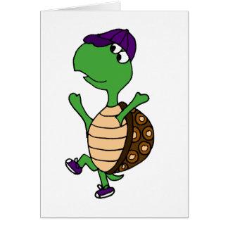 Happy Dancing Turtle Greeting Card