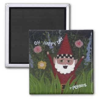Happy Day Gnome Magnet