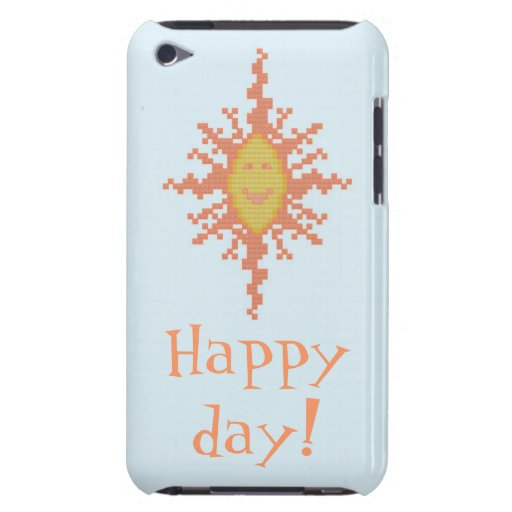 Happy Day!  Sunburst iPod Case iPod Touch Cover