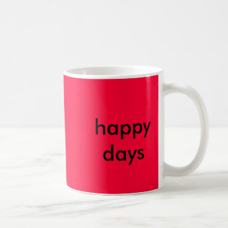 happy days basic white mug