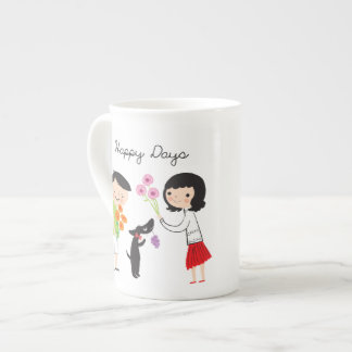 Happy Days (Coco & Us) bone china mug