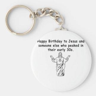 Happy December Birthday 30 something Keychains