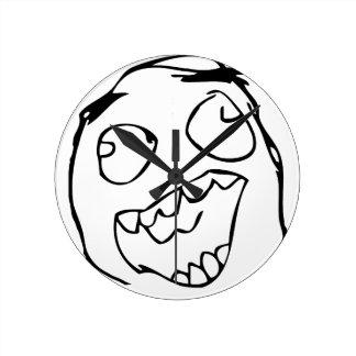 Happy derp -meme round wallclock