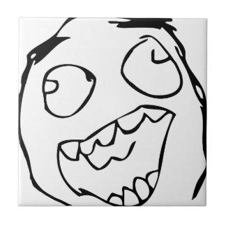 Happy derp -meme small square tile