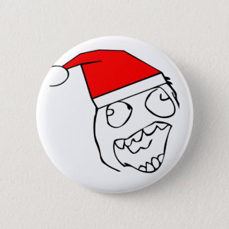Happy derp santa - meme 6 cm round badge
