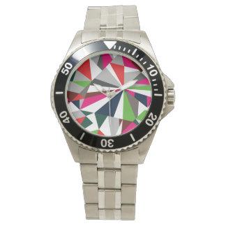happy diamond bling design wrist watch