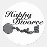 Happy Divorce! Classic Round Sticker