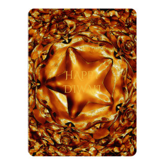Happy Diwali Brown Gold Copper Elegant Star Card