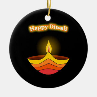 Happy Diwali Ceramic Ornament