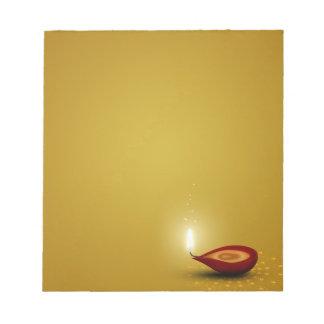 Happy Diwali Diya - Notepad