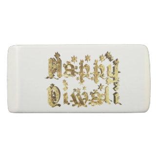 Happy Diwali Elegant Gold Star Typography Eraser